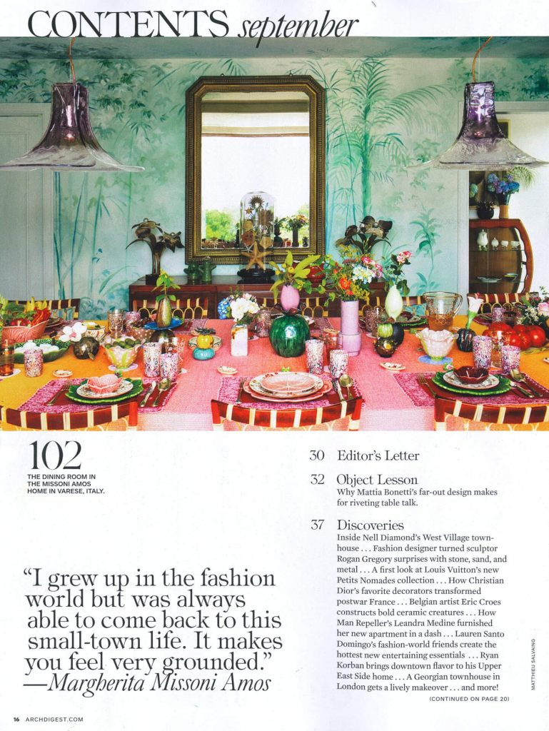 Architectural Digest September 2018 - Zanellazine