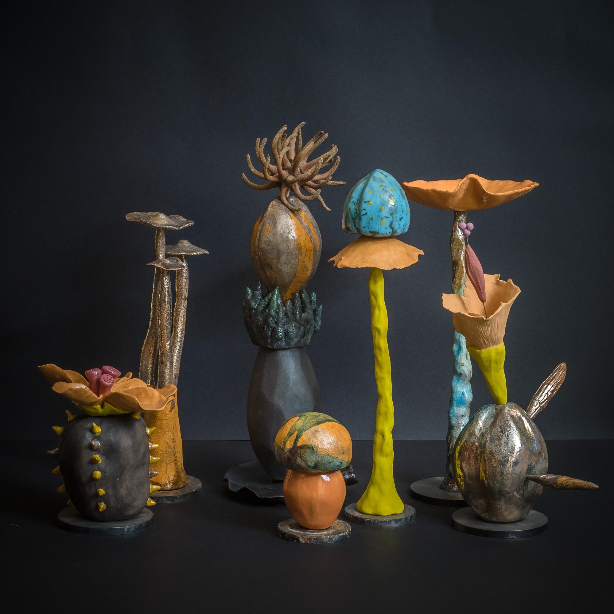 set Funghi Bloomen Sassi Fioriti - zanellazine