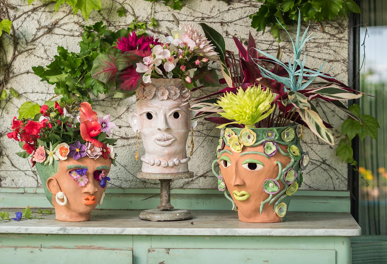 zanellazine- collection Akua, cerami vase, made in italy, hand made decor